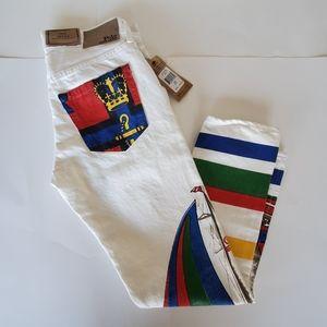 New Polo Ralph Lauren Avery Boyfriend Jeans White